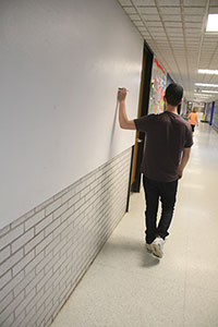 Photo of school hallway.